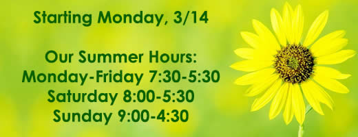 Summer hours start March 14